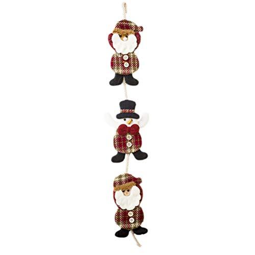 Bestoyard babbo natale sulla scala con pupazzo di neve decorazione natalizia personaggio natalizio santa claus per esterno/interno