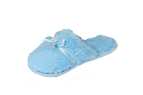 4Kidz , Chaussons pour fille Blue Furry Slippers