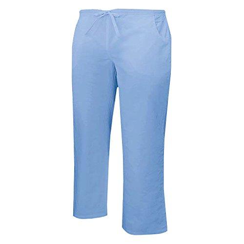 Misemiya - pantaloni vita bassa con cordone uniforme lavoro clinica ospedale pulizia veterinario igiene ospitalitÁ - ref.q8182 - xs, cielo blu