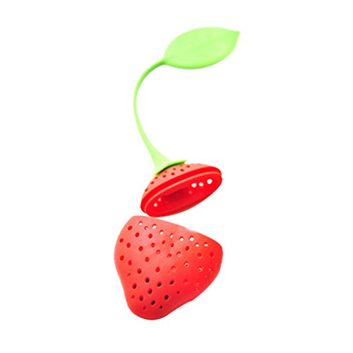 Providethebest Strawberry Tea Leaf-Sieb-Filter Diffusor Seiher rot 19.5Cmx5Cm