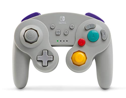 Manette sans fil Switch- Style Game Cube- Gris