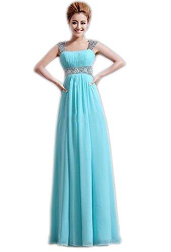Ikerenwedding - Robe - Femme Small Bleu clair