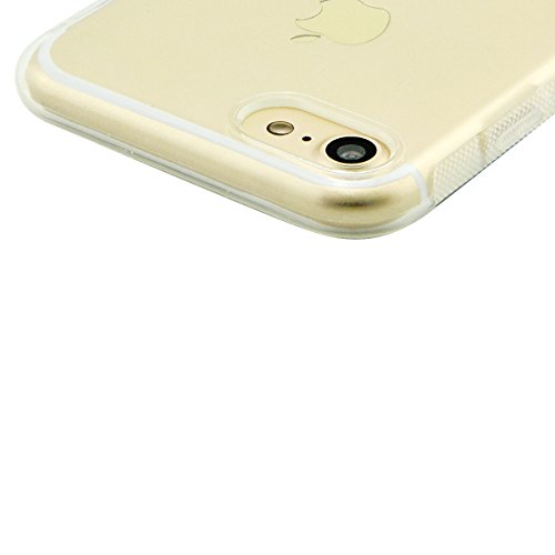 iPhone 8 Hülle, Fraelc iPhone 7 Weich Silikon Rahmen Handyhülle Transparent Schlank Schutzhülle Crystal Clear TPU Bumper Case für Apple iPhone 7 / iPhone 8 mit Blume Muster Design Hart Backcover #3