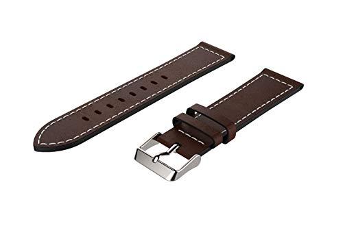 YBWZH Ersatz-Lederarmband-Armband für Samsung Galaxy Watch 46mm Lederband Ersatz Uhren-Armband Ersatzband Watch Band(C)
