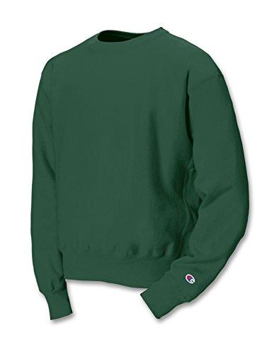 Champion Reverse Weave Fleece Sweatshirt, XL, Dark Green (Trendige Gerippt)