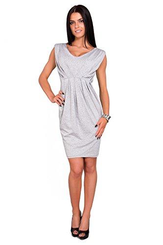 Futuro Fashion Femmes Robe Tulipe Sans manche avec Col V Style Décontracté Taille 8-18 UK 8437 Cendre