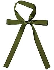 Cuello de pajarita verde del ejército clásico llevó turbante 100% seda de las bufandas Super largo pañuelo de seda fina