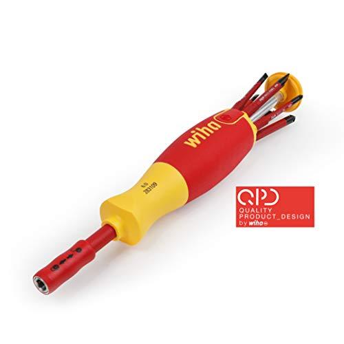 Wiha Magazin-Bithalter LiftUp electric mit 6 slimBits (2831-09021) / Schraubendreher für elektrische Anwendung