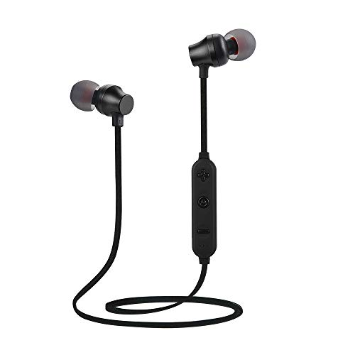 Balock Schuhe Bluetooth-Headset,Kabellose Bluetooth-TF-MP3-Flash-Speicherkarte SD-Karte 4.2 Stereo-Sportkopfhörer,Zum Joggen Laufen Fahren Radfahren Wandern (Schwarz) Bluetooth-a2dp-headsets
