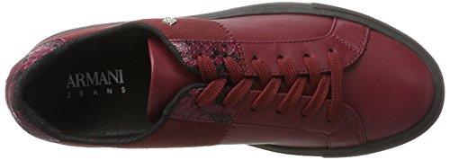 Armani Jeans Damen Sneaker Bassa Rot (Burgundy)