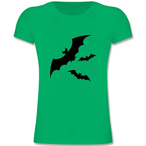 Tiermotive Kind - Fledermäuse - 128 (7-8 Jahre) - Grün - F131K - Mädchen Kinder T-Shirt