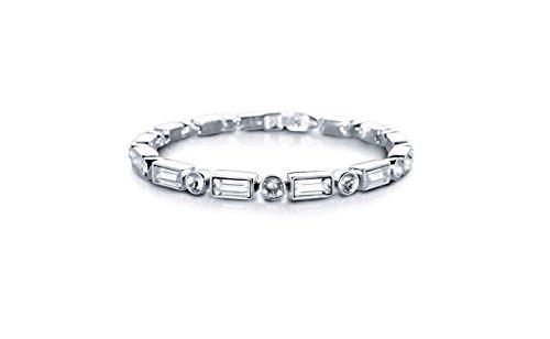 Liora Damen Armband mit Swarovski Steinen 19cm