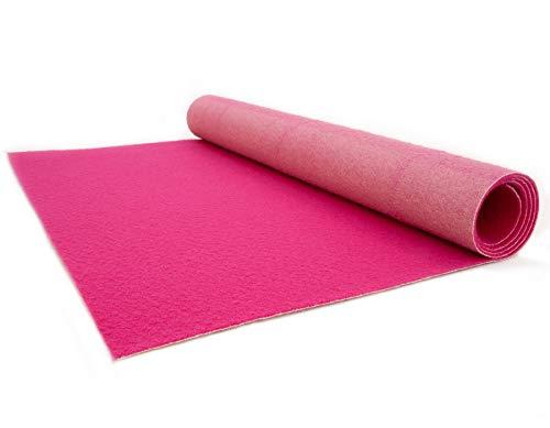 (Pinker Teppich - Hochzeitsteppich - VIP Teppich - Eventtepich - Farbe Pink - 1,00m x 5,00m)