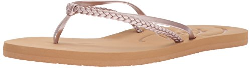 Roxy Damen Cabo Sandals Flip-Flop Flipflop, Rose Gold, 39 EU