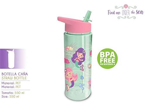 Kids Licensing Meerjungfrauen Sport-Trinkflasche [PET, 550ml]