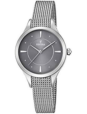 Festina Damen-Armbanduhr Analog Quarz Edelstahl F16958/2