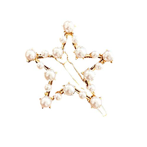 Haarnadeln/Dorical Damen Haarspange Süße mit Perlen Haarklammer Haarspiralen Braut Hochzeit Haarschmuck Accessoires/Geburtstags Geschenk Haarschmuck für Mama Frauen Mädchen(D)