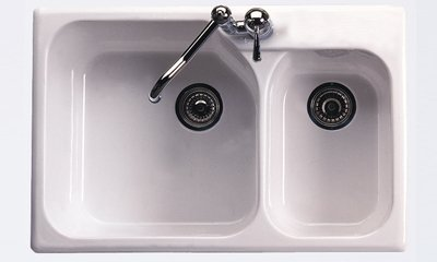 Double Basin Fireclay Kitchen Sink from the Allia Series in by Rohl