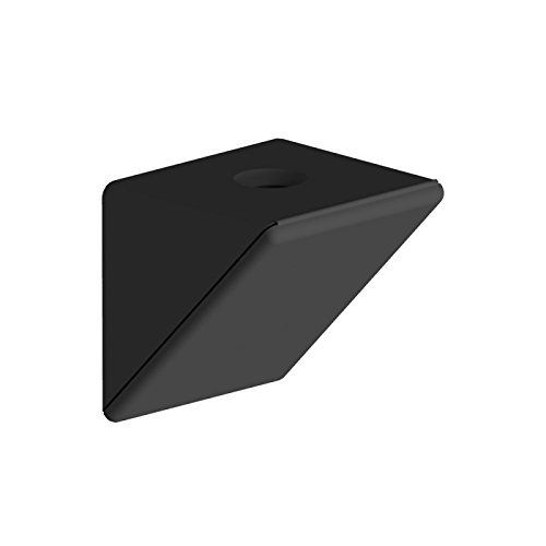 Corner Plastic Angle Shelf Support (500, Black) for sale  Delivered anywhere in UK