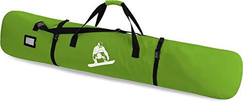 normani Snowboardtasche Snowboardbag dopplet gepolsterter Board Bag - 166 cm Länge mit integriertes Adressfeld und Schultergurt Farbe Limette