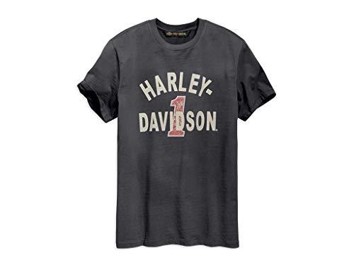 Harley Davidson T-Shirt Cracked Print, XL