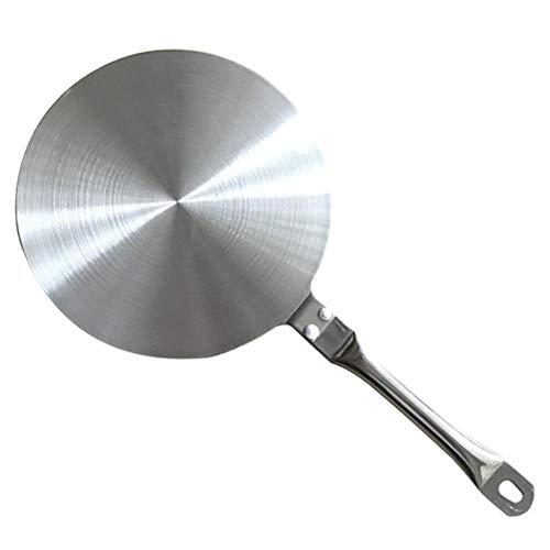 Edelstahl-Hitze-Diffusor-Platten-Küchengerät mit hitzebeständigem Griff, Induktions-Kochfeld-Platte für Gas- / Elektro- / Induktionsherd -