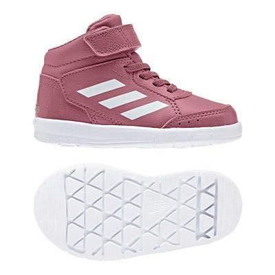 adidas Unisex Baby AltaSport Mid EL Sneaker, Pink Tramar/Ftwwht/Ashsil, 26 EU