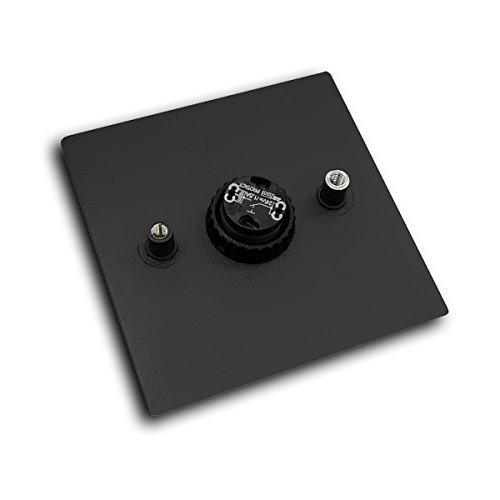 MOCAVI RING 110 Edelstahl-Design-Klingel schwarz matt RAL 9005 quadratisch, Klingeltaster - 2