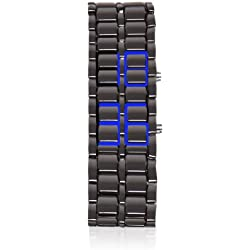 Thumbsup! Armour Men's Digital Watch with Grey Dial Digital Display and Grey Stainless Steel Bracelet ARMWAT