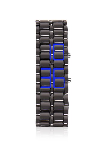 Thumbsup-Armour-Mens-Digital-Watch-with-Grey-Dial-Digital-Display-and-Grey-Stainless-Steel-Bracelet-ARMWAT