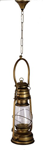 Hanging Lantern, Vintage style, Antique Finish. (Clear Glass)