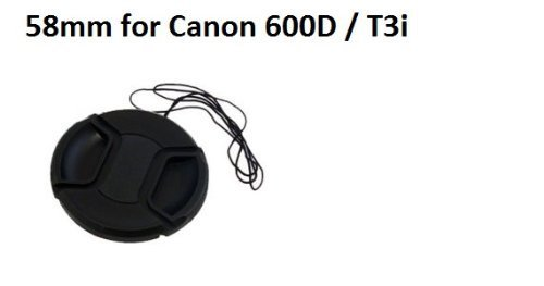 58 mm Snap-on Lens Cap für Canon Rebel T3i/EOS 600D