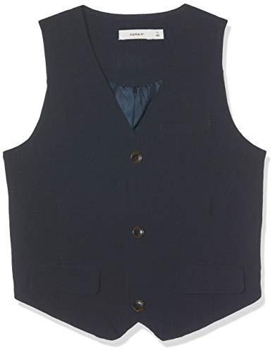 Name It Nkmingemann Waistcoat Noos Gilet, Blu Dark Sapphire, 146 Bambino