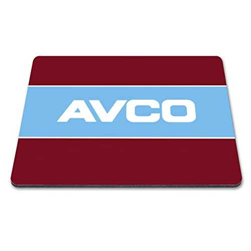 West Ham 1984 Home Personalised Retro Football Shirt Fan Art Fabric Mousemat with Anti-Slip Rubber Laser & Optical Compatible (Front of Shirt Sponsor Design)