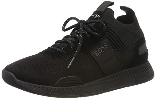 BOSS Titanium_Runn_knst, Herren Sneaker, Schwarz (Black 001), 40 EU (6 UK)
