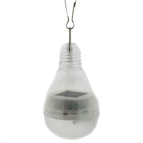 Solarlampe in Form einer Glühbirne mit 4 Led´s zum Hängen ca. 9 cm - Solarbeleuchtung Outdoor - Partybeleuchtung - Solar-Panel - Gartenbeleuchtung LED.Lampe - Hang-panels