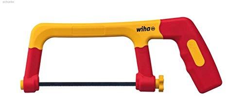 Wiha 43125 electricisoliert mit DREI Sägeblättern 150 mm Bügelsäge, rot gelb