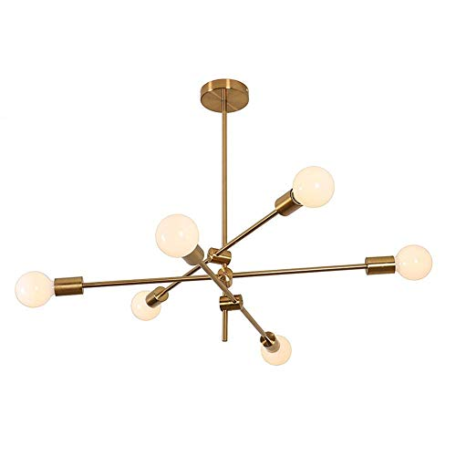 MYKMY-LIGHTING Sputnik Chandelier Moderno Lámpara