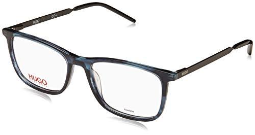 BOSS Hugo Brille (HG-1018 AVS) Acetate Kunststoff - Metall marmor stil blau - matt schwarz