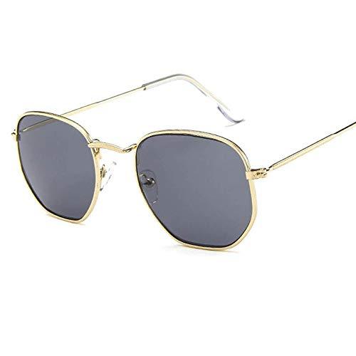 CCMOO Sonnenbrille Männer Kleine Rahmen Polygon Sonnenbrille Frauen intage Sonnenbrille-1