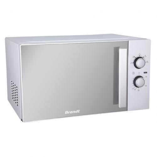 Brandt SM2606S Comptoir 26L Miroir, Blanc micro-onde - Micro-ondes (Comptoir, 26 L, Rotatif, Miroir, Blanc, Vers le haut, Gauche)