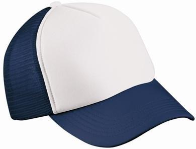 Trucker Mesh Baseball Cap in Polyester in Weiss - Navy