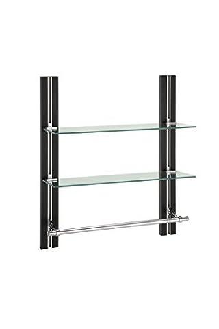 Organize It All 12771W1P 2-Tier Glass Shelf with Towel Bar by Organize It All