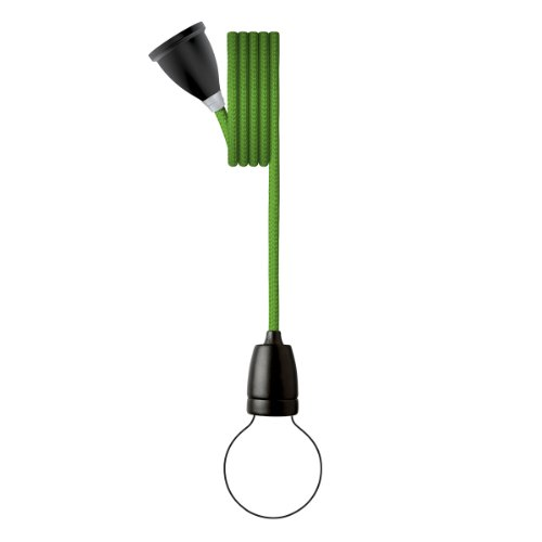 Nud Collection Pendelleuchte Classic Schwarz Greenery - Grün
