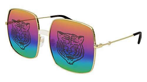 Gucci Sonnenbrillen GG0414S GOLD/MULTICOLOR SHADED Damenbrillen
