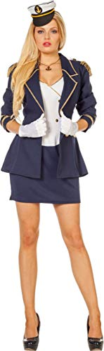 Navy Offizier Kostüm Jacke Erwachsene Für - Wilbers NEU Damen-Kostüm Navy Offizier, Gr. 38