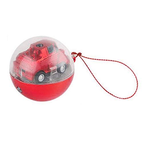 LayOPO Mini-Fernbedienung, Auto, Fernbedienung, Mikro-Fahrzeug, mit Funkfernbedienung, Spielzeug, Mikro-Tasche, drehbar, Stressabbau, Spielzeug für Jungen/Mädchen rot