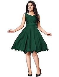 2211 Fashion Women's Knee Length Skater Dress