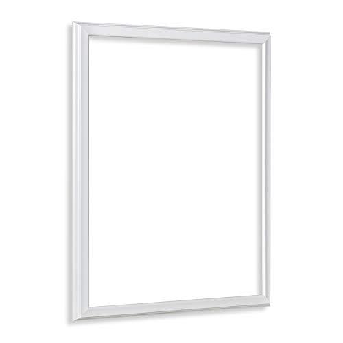Bilderrahmen als Leerrahmen Barockrahmen Kalypso 18 X 24 cm Weiß (matt) Farbe und Größe wählbar -