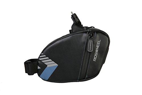 TOFERN Satteltasche Robust Wasserdicht Klettverschluss Mit Reflektorstreifen Fahrradtasche dunkelblau